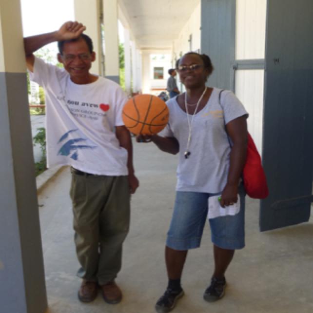 Antonica and Theodore Payen managing summer camp.